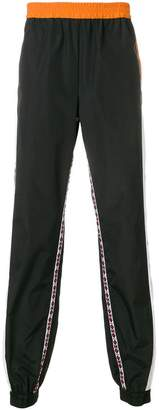 MSGM side stripe track trousers