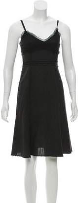 Philosophy di Alberta Ferretti Sleeveless Wool Knee-Length Dress