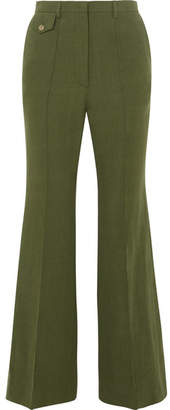 Golden Goose Agata Linen Flared Pants - Green