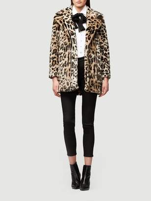 Frame Cheetah Faux Fur Coat