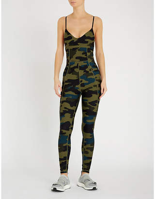 The Upside Camouflage-print stretch-jersey body