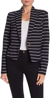 Calvin Klein One Button Stripe Knit Blazer