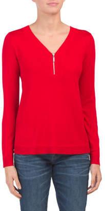 Long Sleeve Half Zip Pullover Sweater