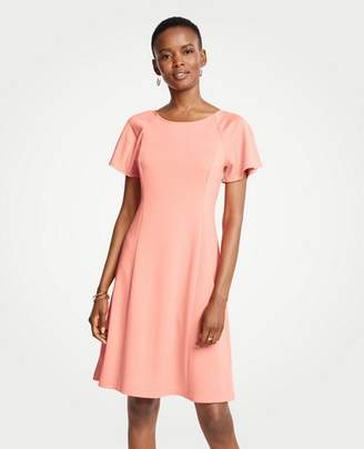 Ann Taylor Petite Short Sleeve Flare Dress