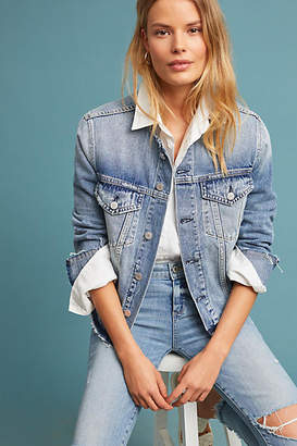 Amo Collarless Denim Jacket