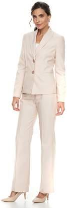 Le Suit Women's End on End Jacket & Pant Suit