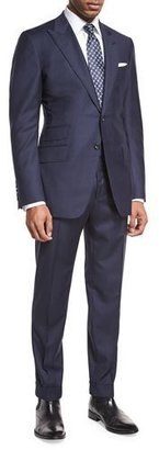 TOM FORD O'Connor Base Windowpane Two-Piece Suit, Navy/Gray $4,890 thestylecure.com