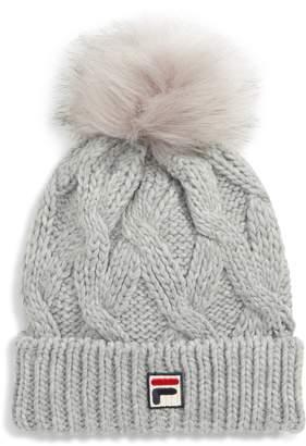 Fila Heritage Pompom Cable Knit Beanie