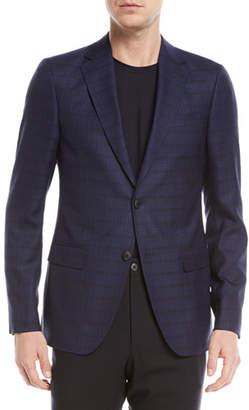 Z Zegna Check Wool-Silk Jacket