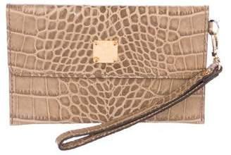 MCM Embossed Leather Wallet