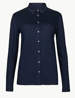 Marks and Spencer Long Sleeve Mercerised Shirt