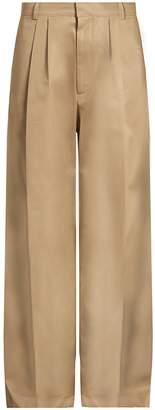 Raey Wide-leg cotton chino trousers