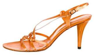 Sigerson Morrison Leather Ankle-Strap Sandals