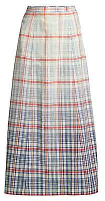 Polo Ralph Lauren Women's Nomi Plaid A-Line Midi Skirt