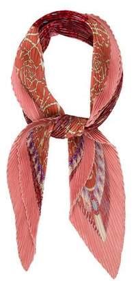 Hermes Printed Silk Plissé Scarf