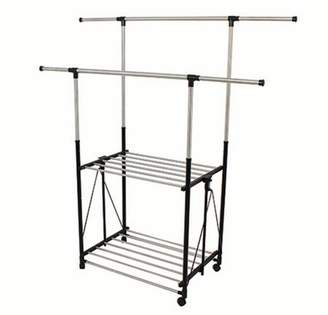 Greenway GRGR200 Stainless Steel Collapsible Double-Bar Garment Rack