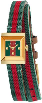 Gucci G-Frame Square Nylon Wrap Strap Watch, 14mm x 18mm