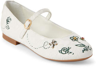 Dolce & Gabbana Toddler/Kids Girls) Embroidered Mary Jane Flats