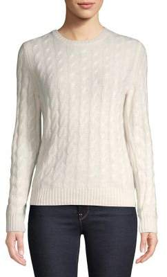Lord & Taylor Cable-Knit Cashmere Sweater