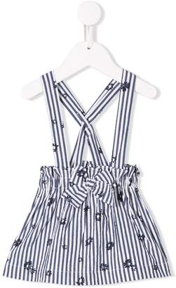 Il Gufo striped pinafore dress