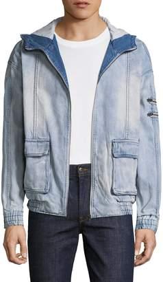 Zanerobe Men's Box Hooded Denim Jacket