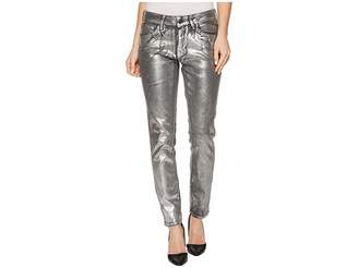 Mavi Jeans Adriana Mid-Rise Super Skinny Ankle in Silver Galactic Women's Jeans