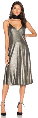 House of Harlow 1960 x REVOLVE Iman Midi in Metallic Gold $178 thestylecure.com