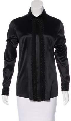 Dolce & Gabbana Silk Ruffle-Trimmed Blouse