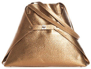 Akris Ai Medium Soft Hammered Leather Shoulder Tote Bag