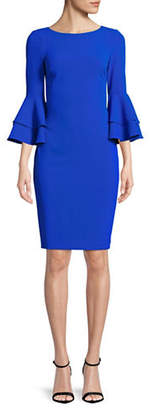 Calvin Klein Tiered Bell-Sleeve Sheath Dress