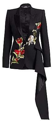 Alexander McQueen Women's Embroidered Drape Jacket