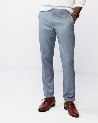 Express Extra Slim Birdseye Wool-Blend Dress Pant