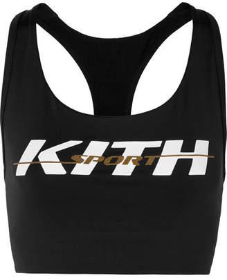 Kith - Brie Printed Stretch-jersey Sports Bra - Black