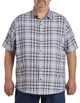 Canyon Ridge Men's Big & Tall Pattern Microfiber Short Sleeve Sport Shirt, up to size 7XL