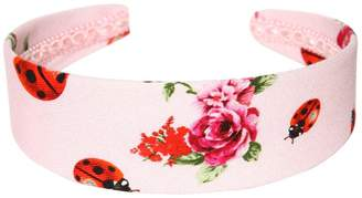 Dolce & Gabbana Floral Printed Brocade Headband