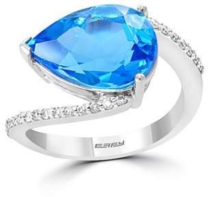 Bloomingdale's Blue Topaz & Diamond in 14K White Gold - 100% Exclusive