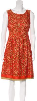 Lela Rose Lace Linen Dress