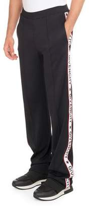 Givenchy Track Pants with Logo Taping, Black $1,095 thestylecure.com