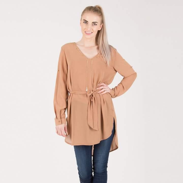 Urban Mist - Camel Suede Mini Dress