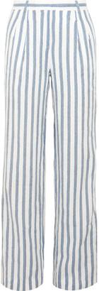MICHAEL Michael Kors - Shadow Striped Linen Wide-leg Pants - Cream $135 thestylecure.com