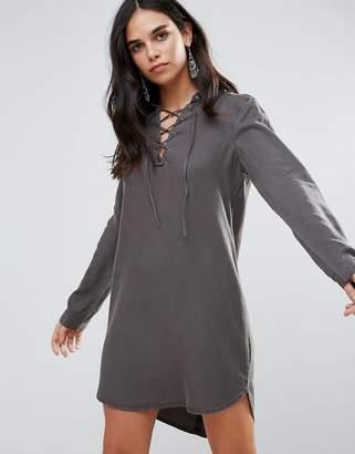 Vero Moda Lace Up Shift Dress