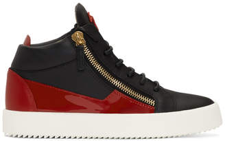a1bf0c484ee Giuseppe Zanotti Red and Black Kriss Sneakers