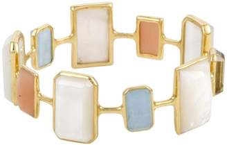 Ippolita Rock Candy 18K Yellow Gold with Multi-Colored Stones and Mother of Pearl Bangle Bracelet
