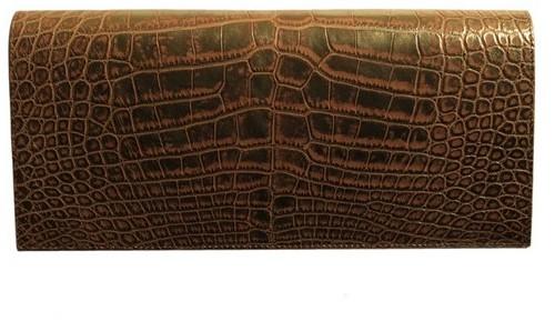 Faberge Perrin Paris 1893 Large Croc Vintage Clutch
