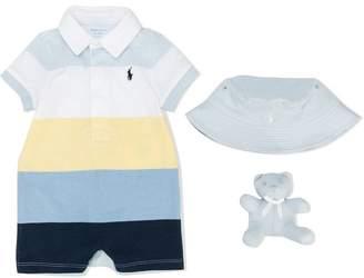 Ralph Lauren shorties, bear and hat set