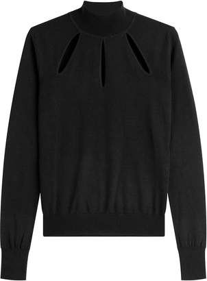 Thierry Mugler Wool Pullover with Cut-Outs