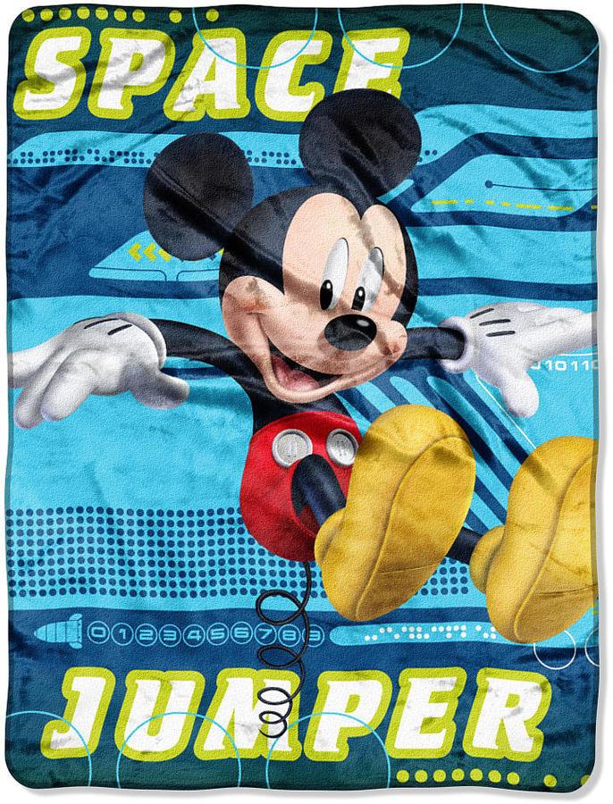 Northwest Company Disney Mickey Mouse Micro Raschel Throw - Space Jumper