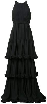 MSGM ruffled evening dress