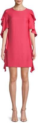 Nicole Miller Women's Ruffle-Trimmed Shift Dress