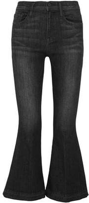 Frame Le Crop Bell Faded High-rise Kick-flare Jeans